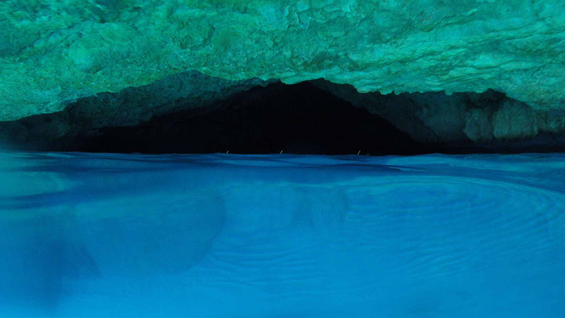 Blue Room Cave Above Water