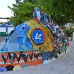 Street Art Scharlo Fish made of scraps Myronchitrip