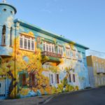 Street Art Scharloo golden yellow tree Myronchitrip Curacao